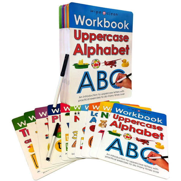 Wipe and Clean Workbooks Collection 10 Book Set Learn To Write (Priddy)