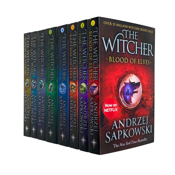 Andrzej Sapkowski Witcher Series Collection 8 Books Set Season of Storms Inc The Last Wish -Netflix