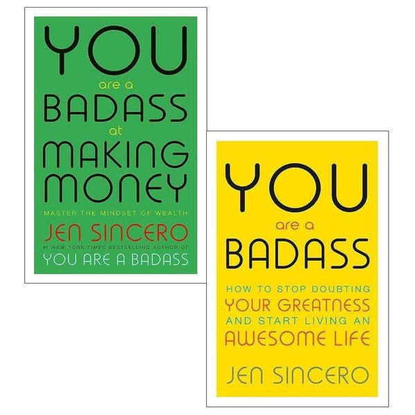 You Are A Badass 2 Books Set Collection By Jen Sincero, Living An Awesome Life..
