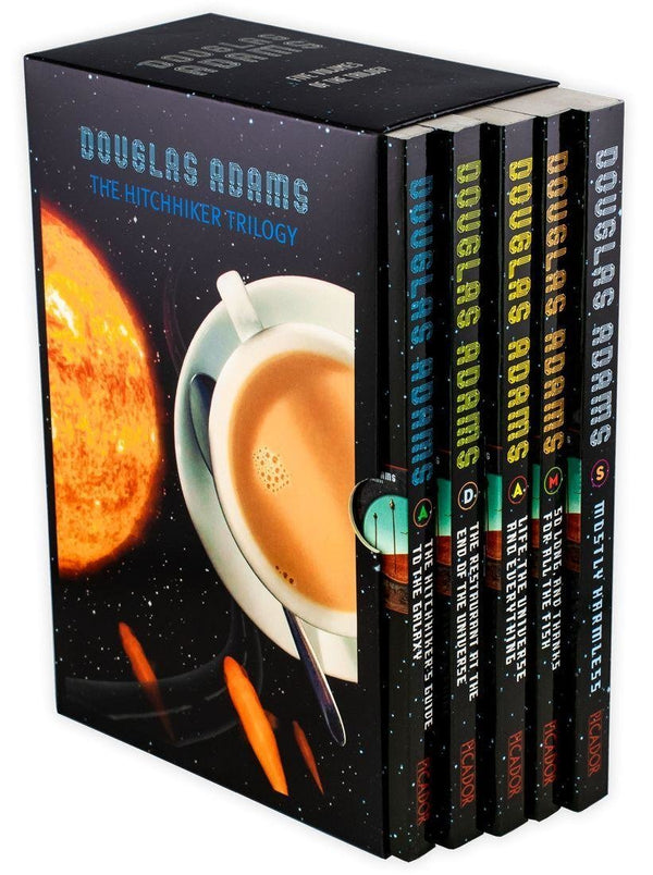 Hitchhikers Guide to the Galaxy Trilogy Collection 5 Books Set Douglas Adam