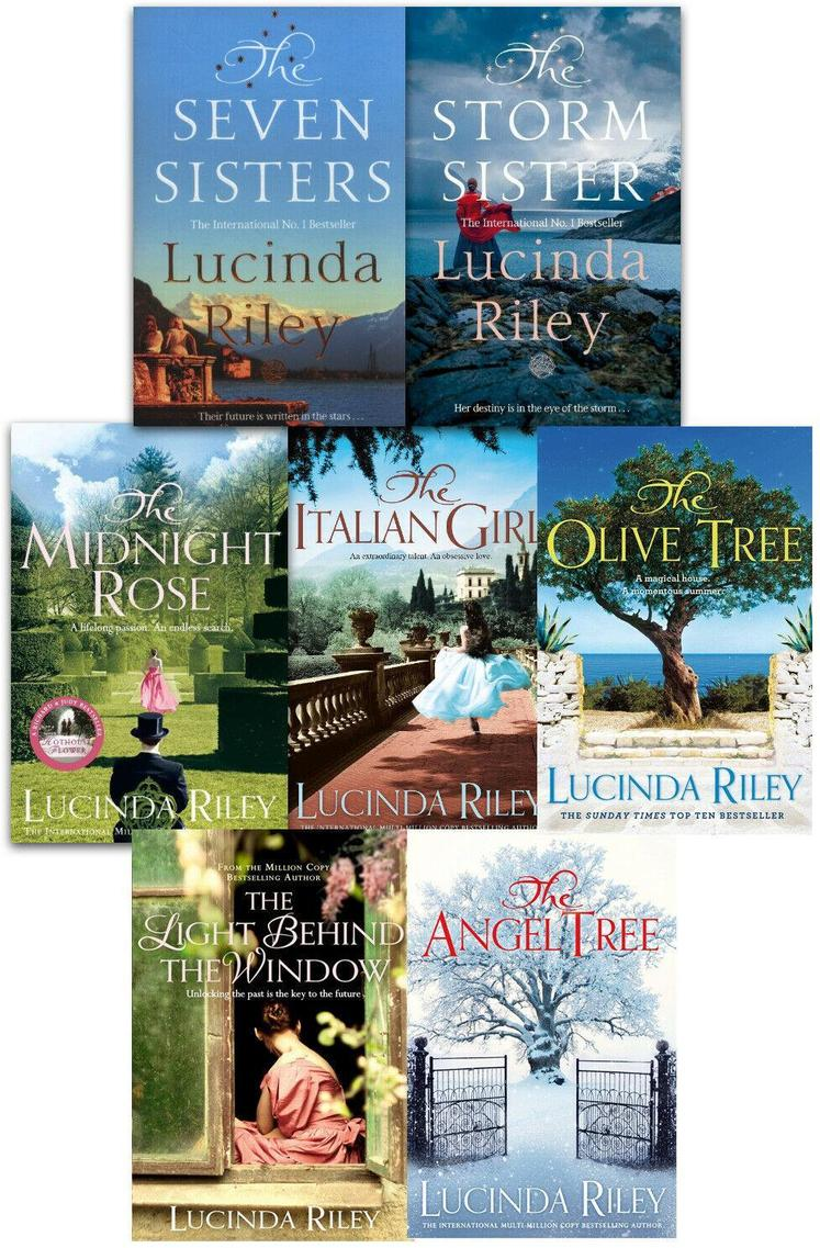 Lucinda Riley 7 Books Collection Set Storm Sister, Seven Sisters, Midnight Rose