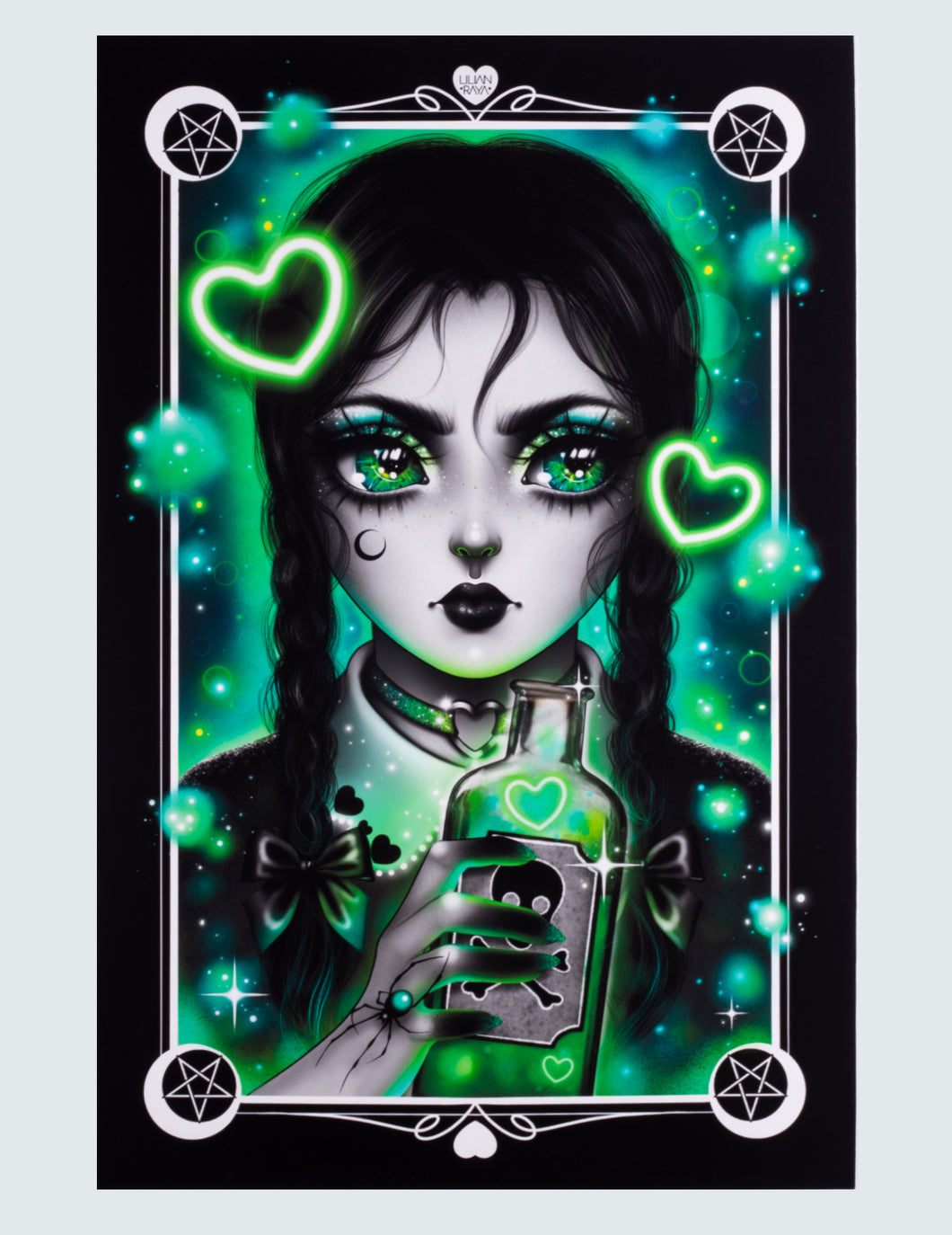 "Art Print ""Wednesday Adams"""