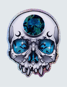 """Moon Skull"" Sticker"