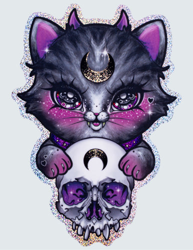 "Sticker ""Skull Kitty"""