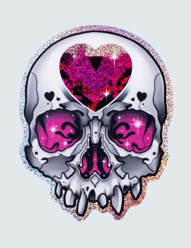 """Heart Skull"" Sticker"