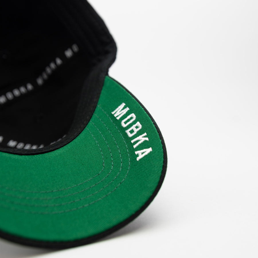 **NEW** MOBKA RETRO CLASSIC BASEBALL CAP (BLACK/GREEN)