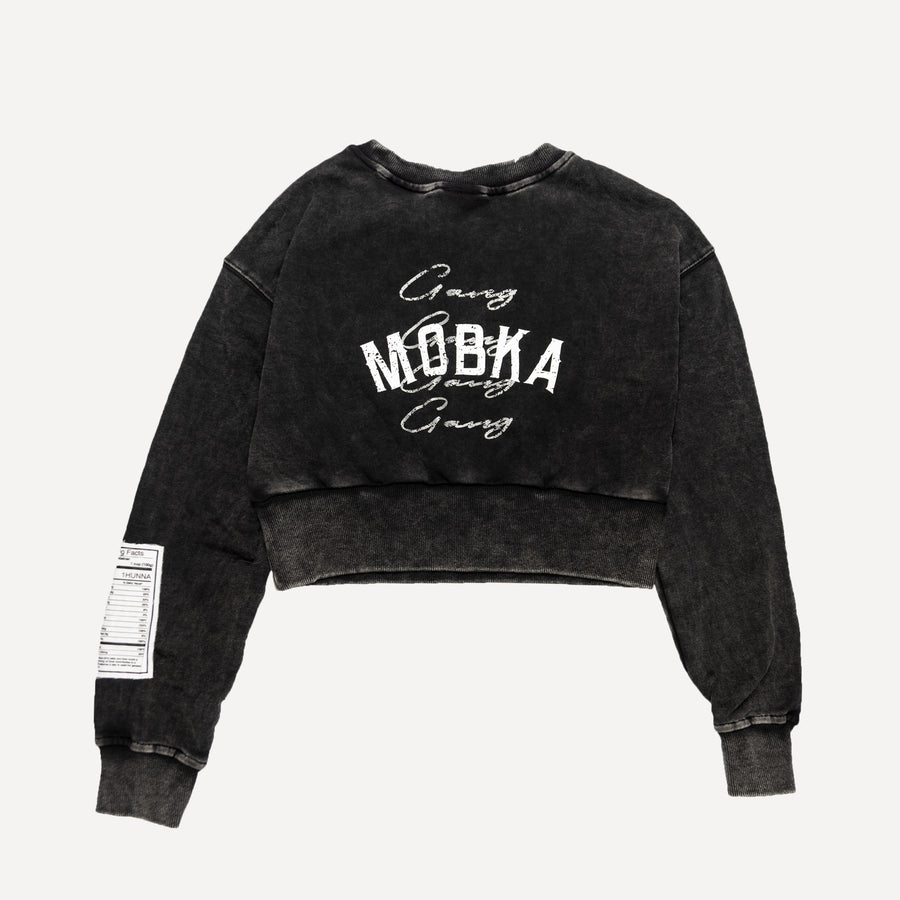 MOBKA GANG GANG ACID WASH WOMENS SWEATER