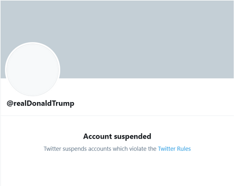 Trump's Banned Twitter Account