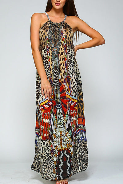 High Neck Maxi Cover Up