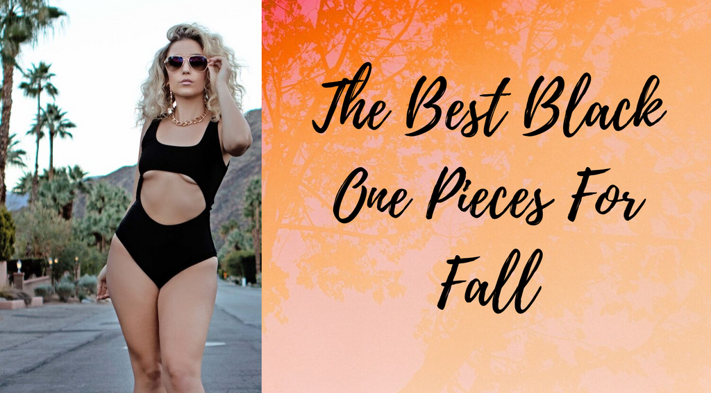 black one piece bathing suits