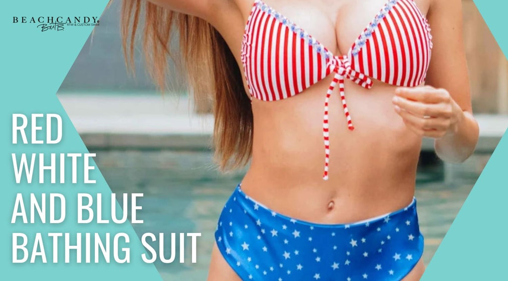 red white and blue swimsuits