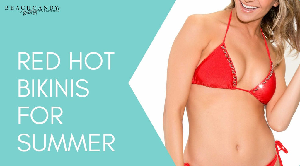 best red women's bathing suits