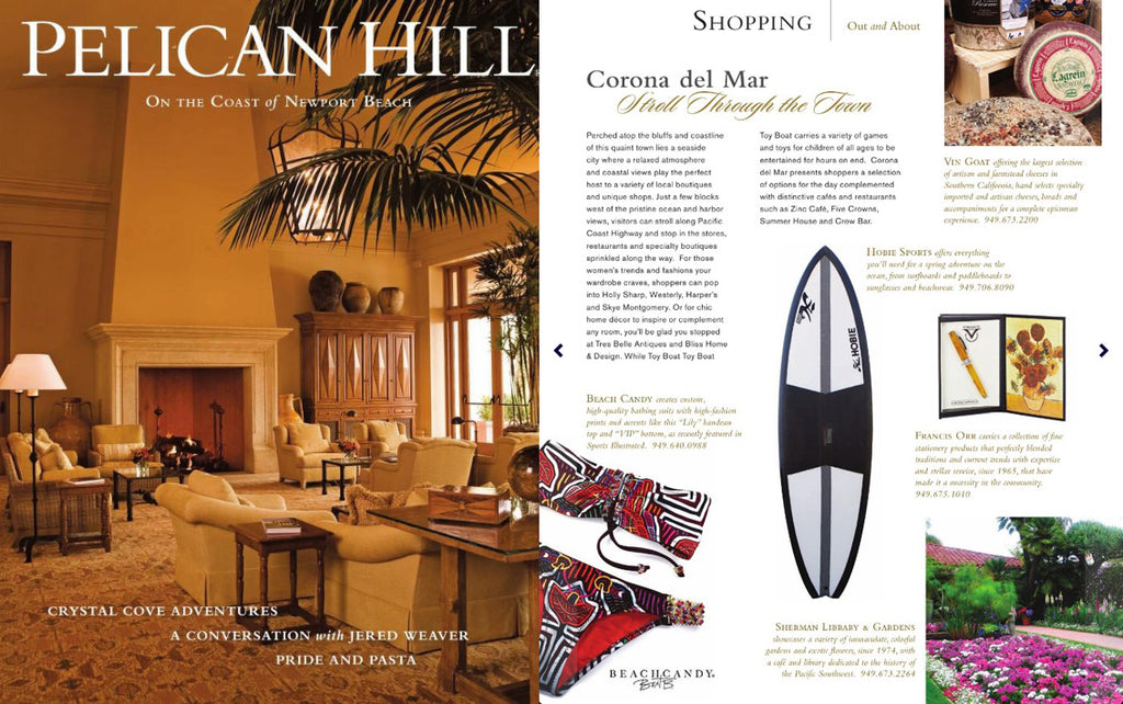 BeachCandy featured in Pelican Hill