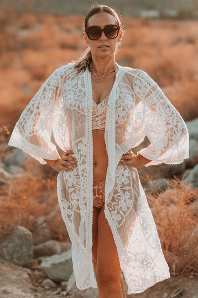 long lace swimsuit cover up