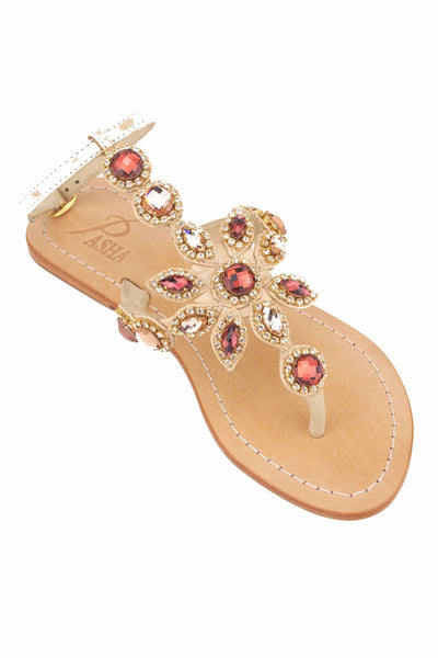 womens sandals with crystals