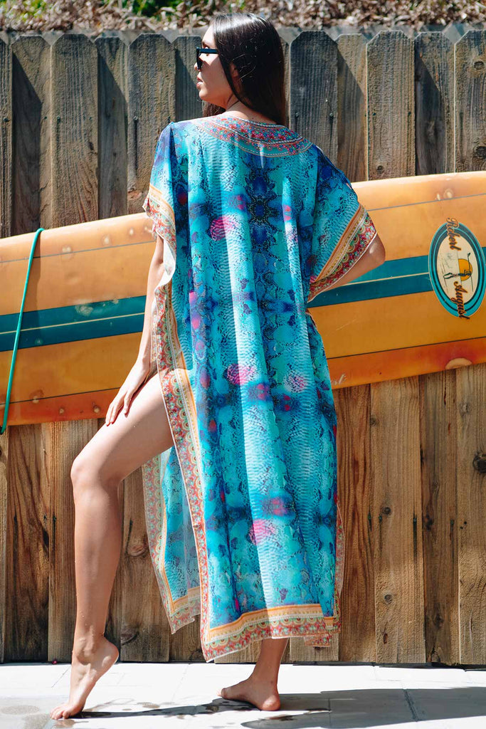 colorful tunic beach cover up