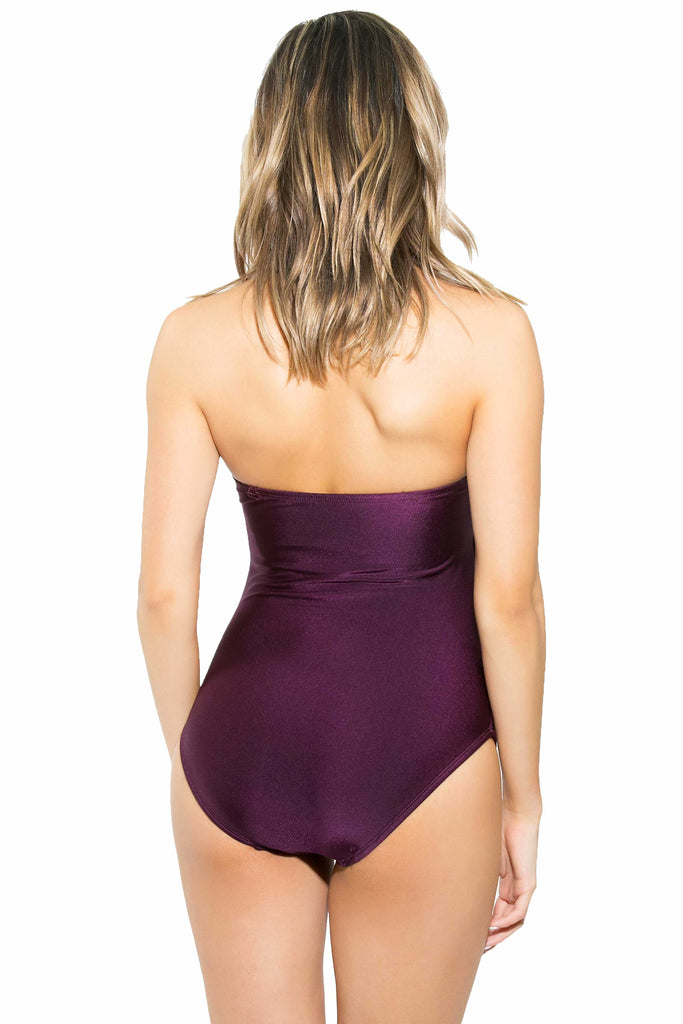 high back one piece bathing suit