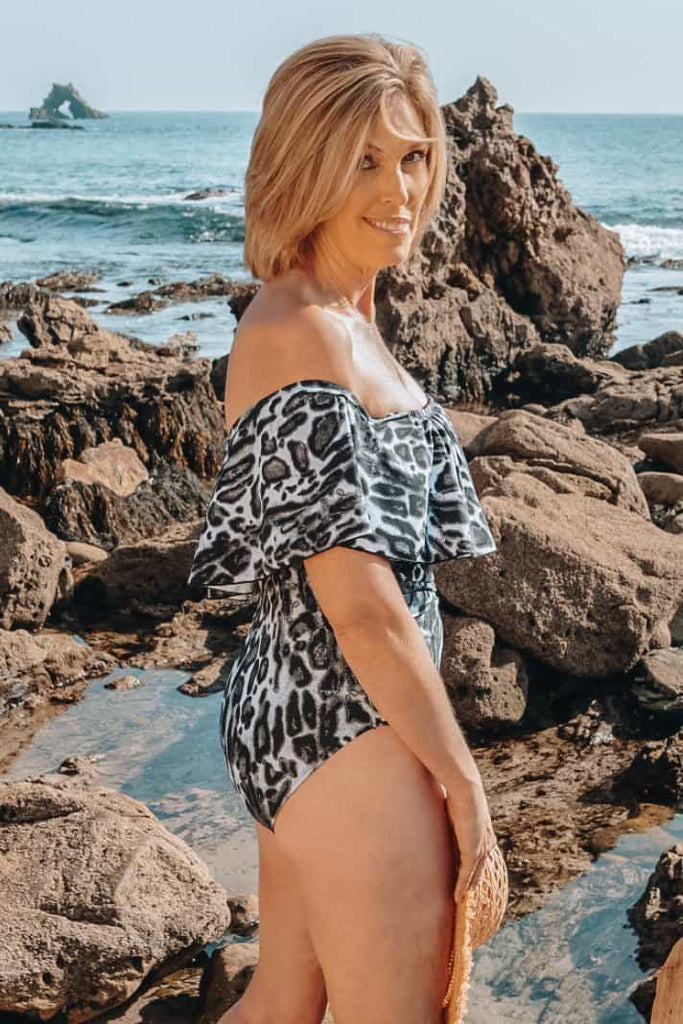 modest one piece swimsuit
