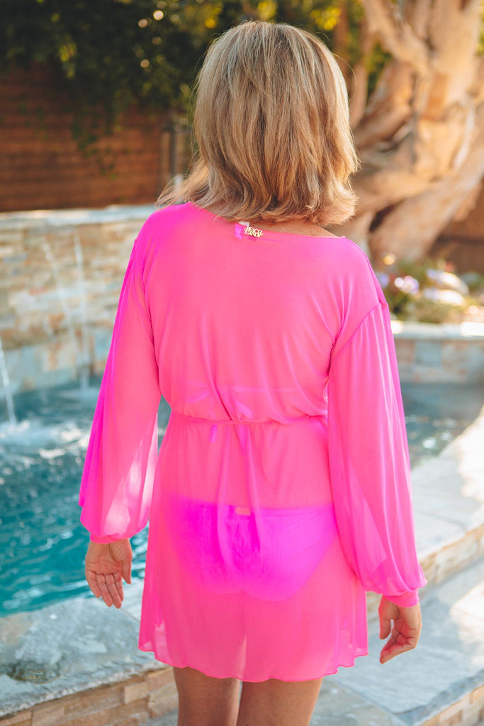 sexy long sleeve beach coverup