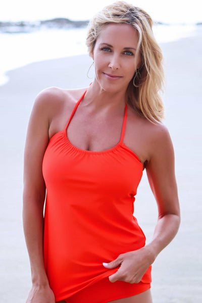 slimming two piece swimsuit top