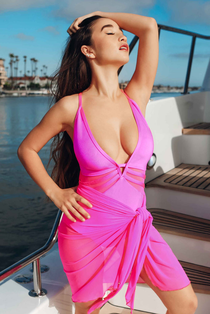 hot pink womens swimsuit