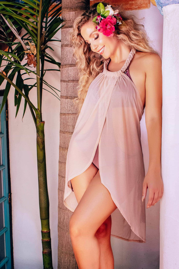 beach cover up wrap dress