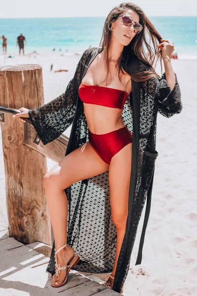 long swimsuit robe cover up