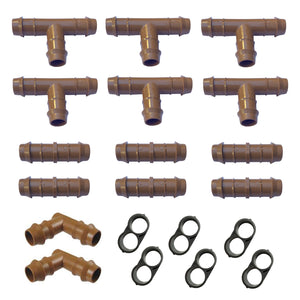 "Habitech Irrigation Fittings Kit for 1/2"" Tubing"