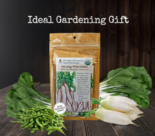 Load image into Gallery viewer, Asian Vegetable Garden Organic Seeds Variety Pack - Edamame, Daikon Radish, Pak Choi (Bok Choy)