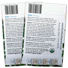 Load image into Gallery viewer, Organic Mint Seeds - Two-Pack of 600 Seeds Each