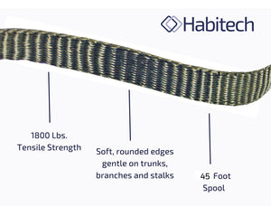 Habitech 45' Tree Tie Strap Staking and Guying Material, 1,800 Lbs Strength
