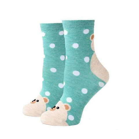chaussette fantaisie ours blanc