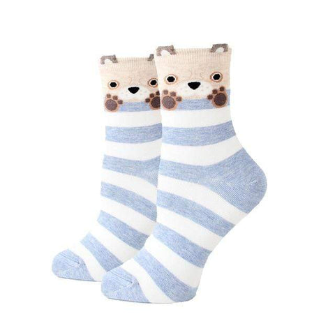 chaussettes motif ours