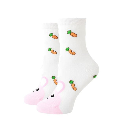 chaussette fantaisie lapin