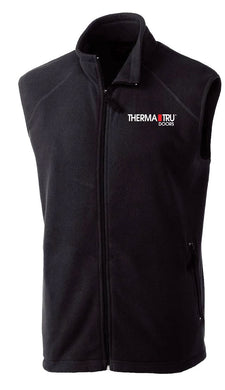 Black Full Zip Microfleece Vest