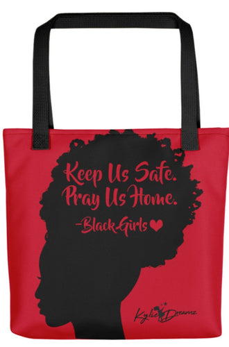 Keep Us Safe Tote - Red