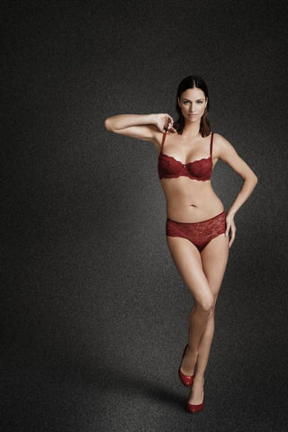 Montelle Intimates red bra and panty set