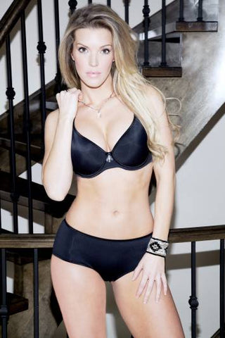 Fit Fully Yours Black Crystal Smooth Cup Bra