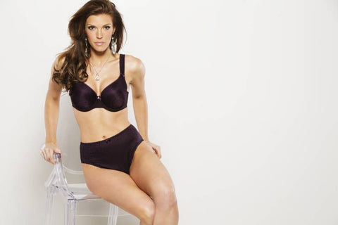 Fit Fully Yours Dark Purple Jacquard Bra