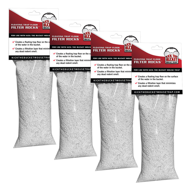 Floating Trap Floor Filter Rocks Pouches - 4 Pack