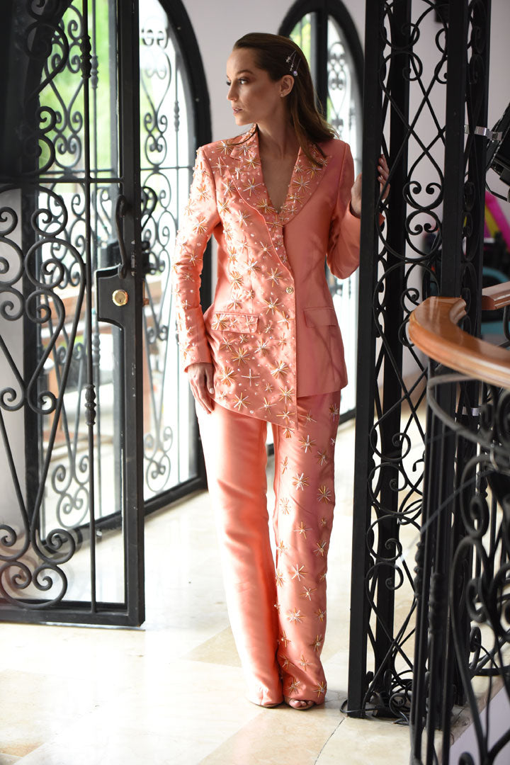 Silk Coral Flicker Star Suit