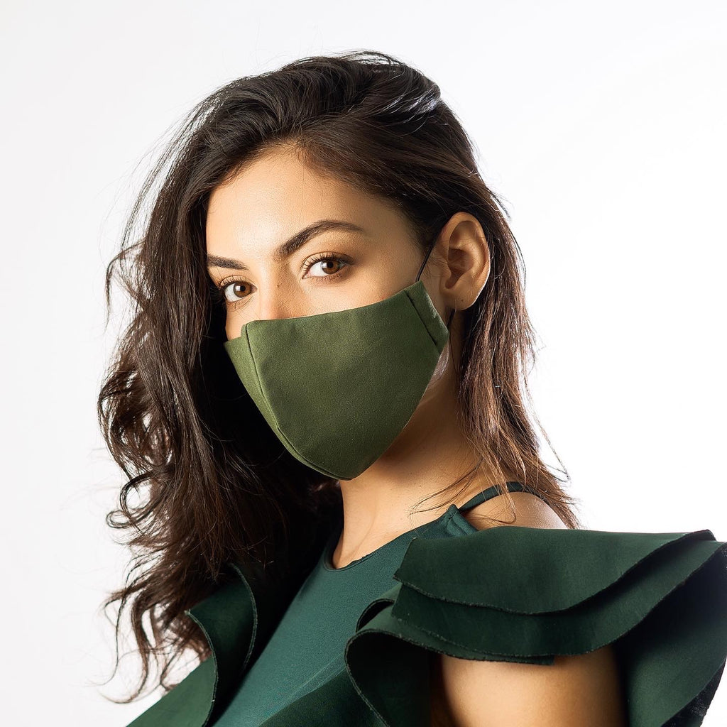 Olive Green Civilian Mask