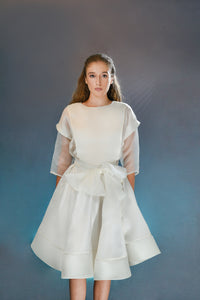 Silk Gazar Double circle skirt