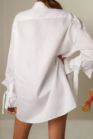 Tulip Embroidered Dress Shirt