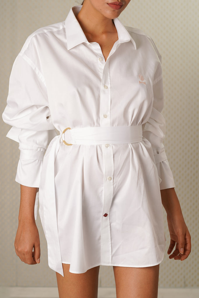 Tulip Embroidered Dress Shirt-JC Lagares official website | JCL.