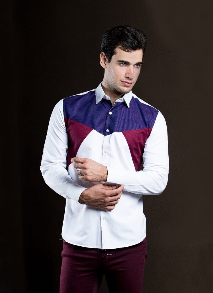 Color Block Men shirt-JC Lagares official website | JCL.