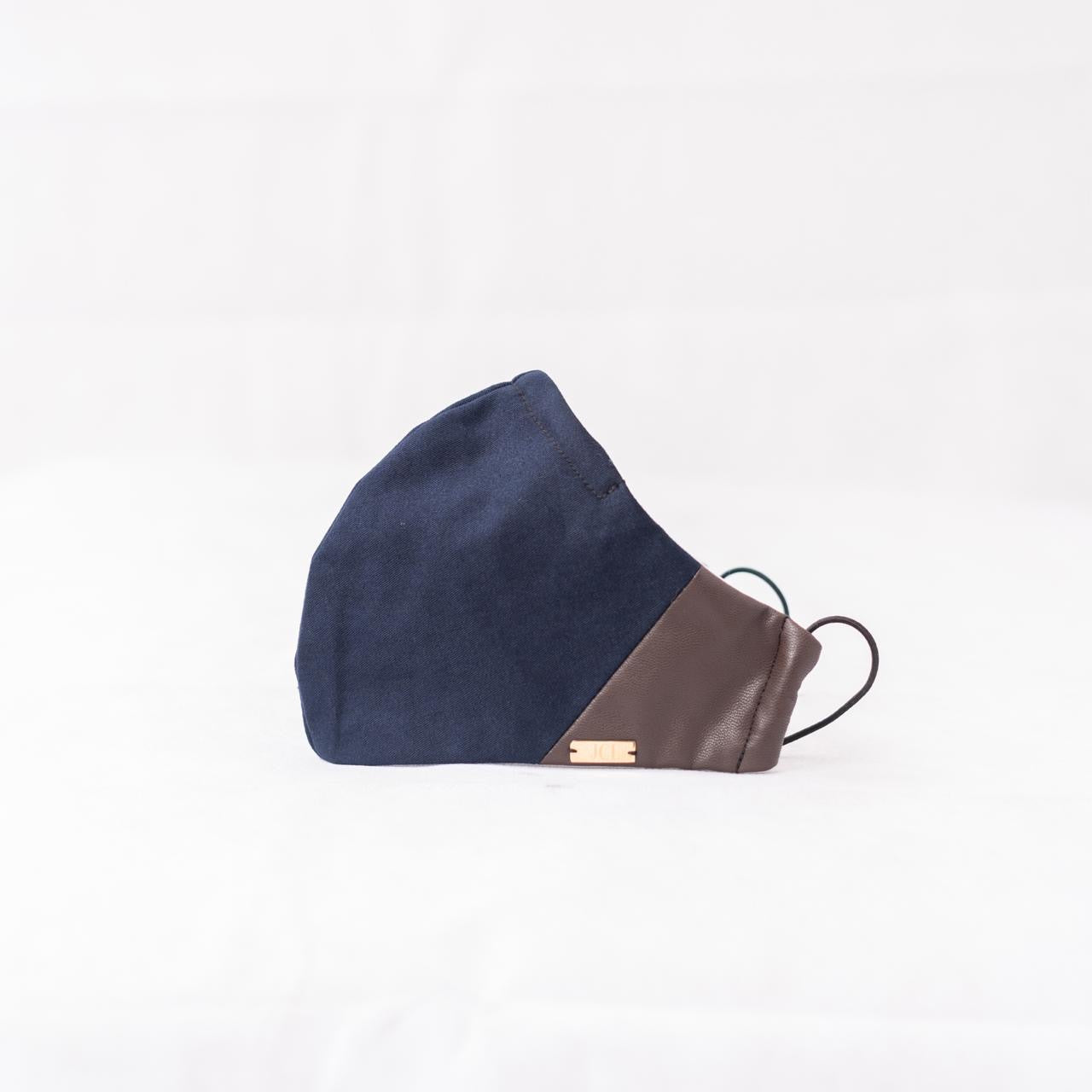 Navy and Brown Leather Mask-JC Lagares official website | JCL.