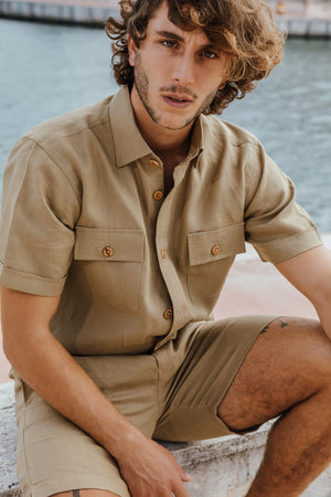 Linen 4 Pocket Shirt-JC Lagares official website | JCL.