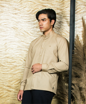 Beige TULIP monogram Shirt-JC Lagares official website | JCL.