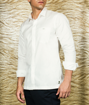 White TULIP monogram Shirt-JC Lagares official website | JCL.